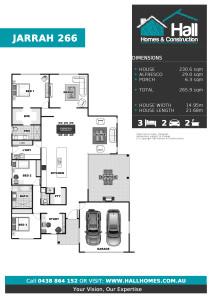 Jarrah 266 Floor Plan (Click to Download Plan)